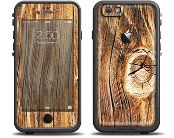 The Knobby Raw Wood Skin Set for the Apple iPhone 6 LifeProof Case (Other Models Available!)