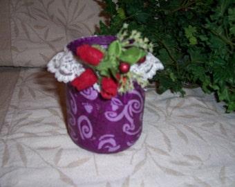 Red/Purple Brighton Tissue Decoupage Jar