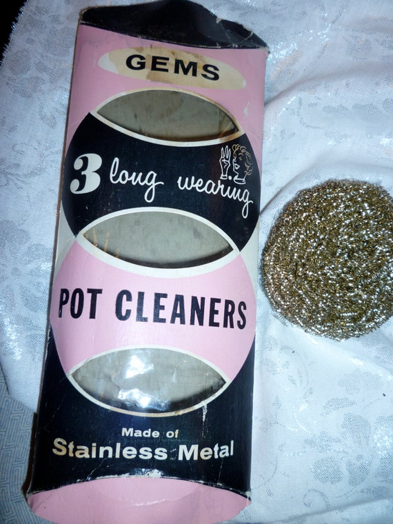 Vintage scrubbers gem pot cleaners package with one