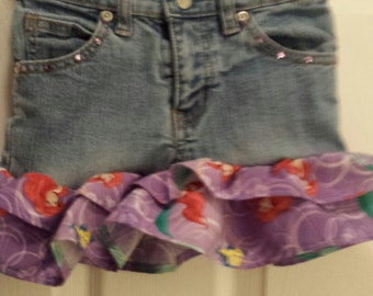 Ariel Upcycled Blue Jean Skirt