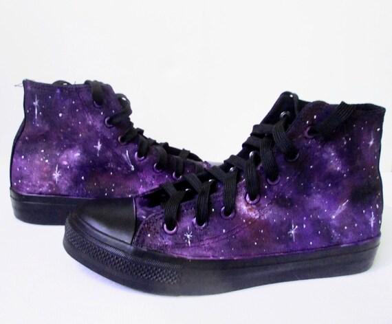 Custom handpainted purple galaxy by MadCandies on Etsy