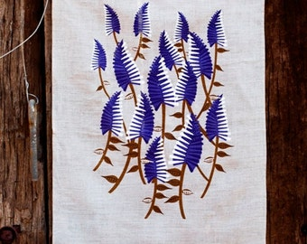 Mulla Mulla Wildflower Linen Tea Towel