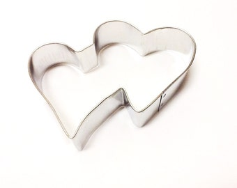 Double Heart Metal Cookie Cutter, Valentine's Cookie Cutter, Heart Cookie Cutter, Cookie Cutter, Baking Supplies