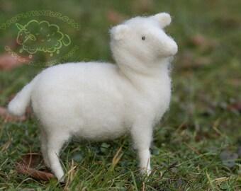 Needle felted Sheep - White, poseable