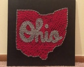 Script Ohio String Art, Ohio State Buckeyes String Art