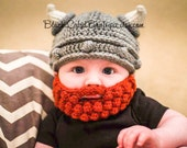 Viking Hat and Beard for Baby, Toddler, Child, Adult