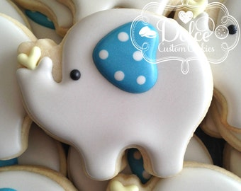 Elephant Baby Shower Cookies Small