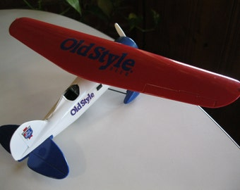 Old Style Beer Diecast Airplane, Ertl Diecast Airplane Bank