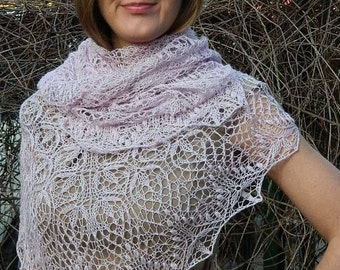 READY TO SHIP. Shawl, lace, knitting. Triangle Shawl Shawlette. Estonian shawl