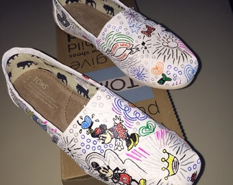 Hand Painted Dooney and Bourke Disney Purse Style Toms- Personalized to any design, college, or character(s) you want