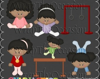 Gymnastics - AA Kids Exclusive Clipart