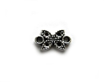 10 Silver Marcasite Style Connectors - 10mm