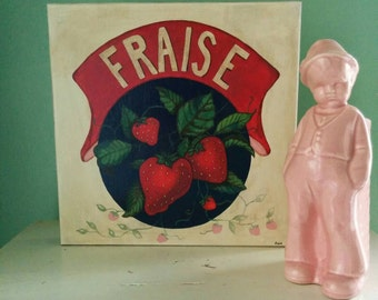 Vintage French Strawberries