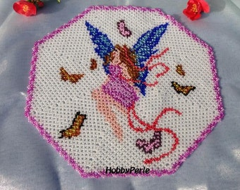 Fairy and butterflies Doily pattern