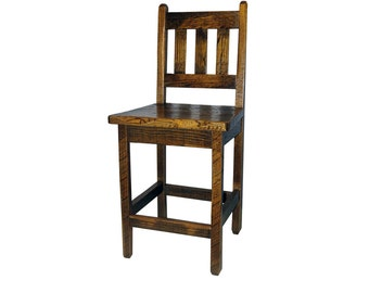 30 Inch Rustic Hickory Upholstered Bar Stool No By
