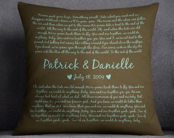 Lyrics - Dave Matthews Band - You and Me Together - 18x18 Pillow