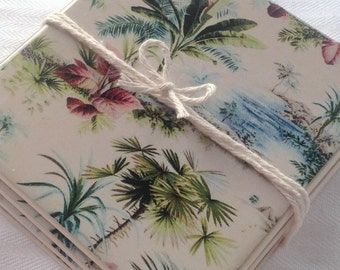 Ceramic Tile Coasters - Retro Style Hawaiin 007