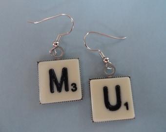 Scrabble Lover's Earrings