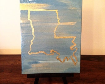 "Home State--5"" x 7"" Thin Canvas (Easel included)"