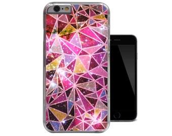 Geometric iPhone 6 Case Pink iPhone 5 Case Nebula Geo iPhone 5c Case Galaxy iPhone 4 Case Space iPhone 4s 5s Cover (A208)
