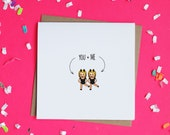 You and Me Emoji Twins Greeting Card / Best Friends Valentine's Day Card / Friendship Card / Funny Valentine / Emoji Card / Card for Friend
