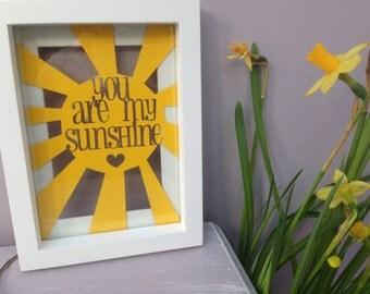 You Are My Sunshine Lyrics - Floating Frame