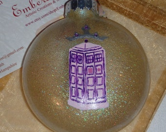 Doctor Who Tardis Christmas Ornament Pink Princess Limited Edition