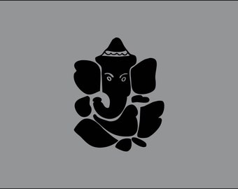 Ganesh Hindi Hundu Indian symbol vinyl decal sticker, several sizes and colors to choose from
