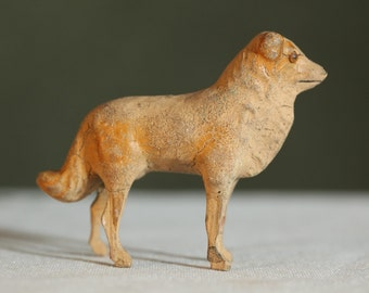 Very old ANTIQUE Dog Collector Figurine 1900's