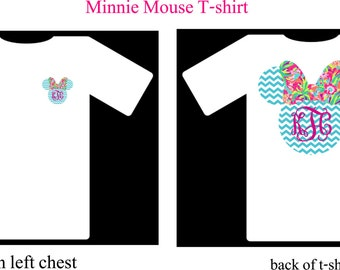 Monogram Shirt, Minnie Mouse Monogram Shirt