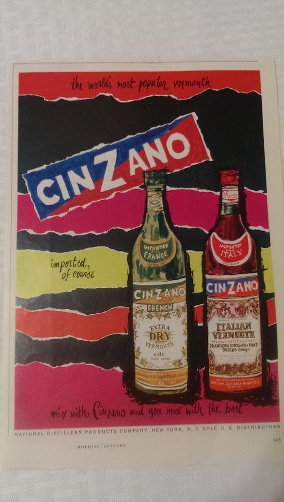 Man Cave Liquor Decor : Liquor ad advertising cinzano vermouth wall hanging art