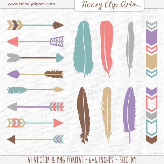free feathered arrow clip art - photo #48
