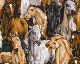 Horses fabric | Etsy : horse fabric for quilting - Adamdwight.com