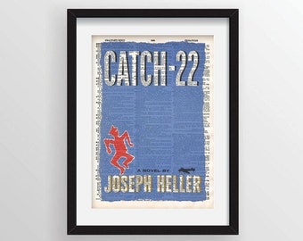 Catch-22 by Joseph Heller - Cover Art on Recycled Dictionary Page