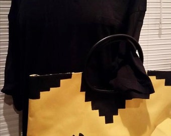 Throwback 8 Bit Chic Large Tote, convention bag, video game purse, Atari