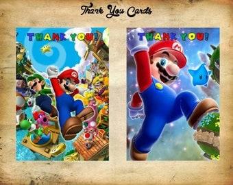 Mario Thank You Cards