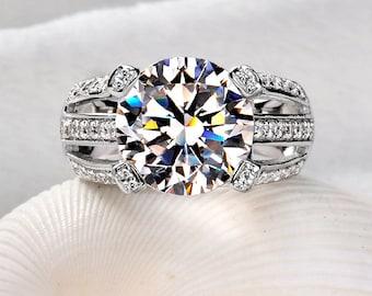 5 carat Gorgegous lab-created diamond engagement/wedding ring , Lab diamond ring, Wedding ring