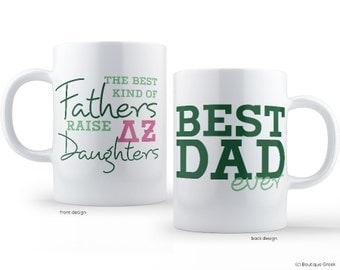 DZ Delta Zeta  Best Dad Mug Sorority Father Mug
