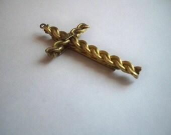 Vintage Winard Cross Pendant  Marked Winard