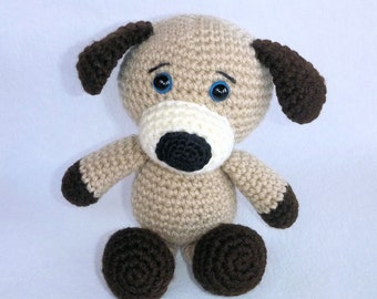 Amigurumi Puppy, Crochet Puppy, Stuffed Toy Dog, Cute Plush Puppy, Animal Toy, Cute Gift for Dog Lovers, Australian Made