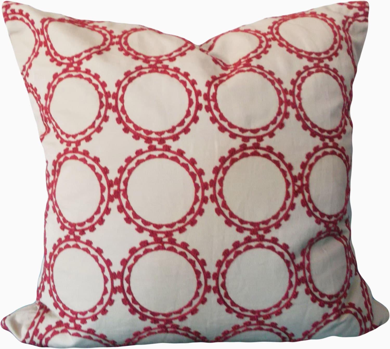 Kravet Embroidered Circles Decorative Pillow by PillowTimeGirls