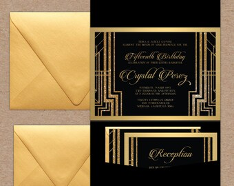 Gatsby Gold & Black Invitation