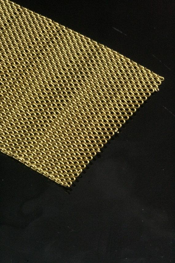 raw brass mesh chain 1 mt 3,3 feet 30 mm