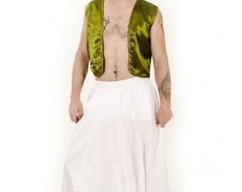 Mens  Harem Yoga Pants  Elasticated Waist And  Leg Open.Plus size, Gift Harem.