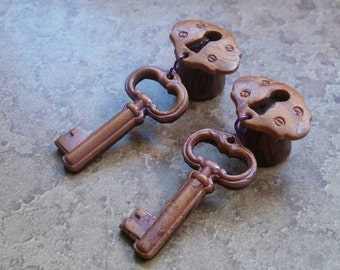 4g, 2g, 0g, or 00g -- Lock & Key Single Flare Plugs