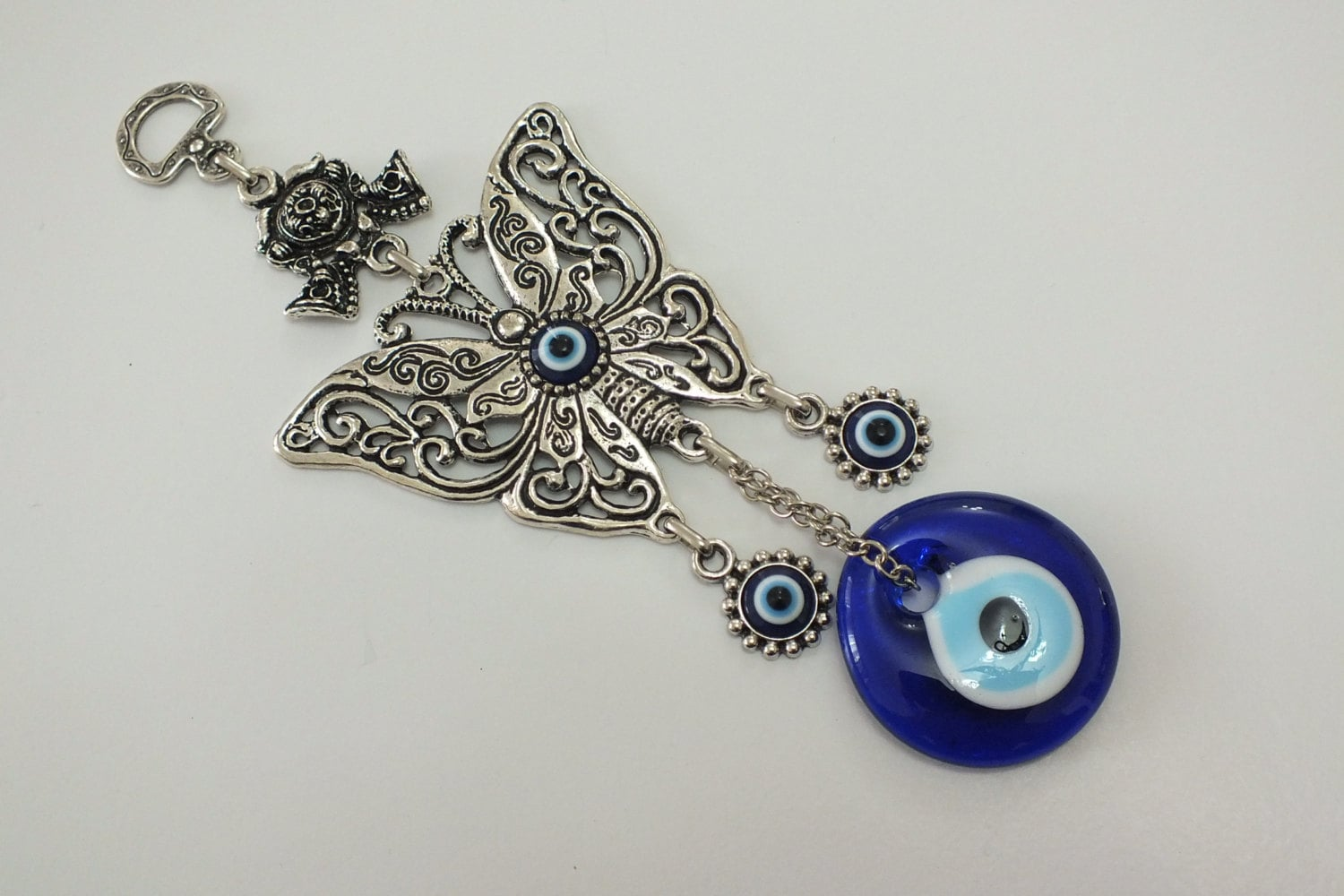 Evil Eye Decoration Wall Hanging : Butterfly evil eye wall decoration hanging