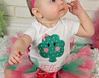 St. Patrick's Day Tutu Outfit, Shamrock Tutu Outfit