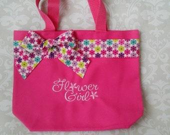 Flower Girl Gift, Flower Girl Tote, Flower Girl Purse, Flower Girl Rehearsal Gift