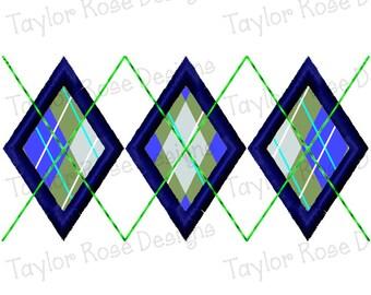 Argyle Applique Machine Embroidery Design 3x3 4x4 5x7 INSTANT DOWNLOAD