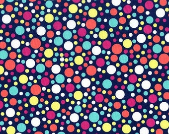 Navy Play Dots, from Michael Miller Fabrics